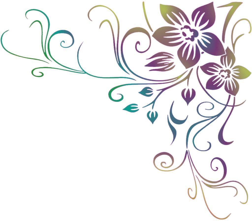 Fl56981 fleur orchidee angle pochoir