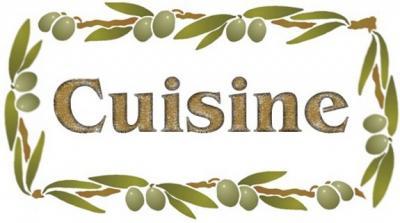 Fl748 pochoir cuisine olives style pochoir
