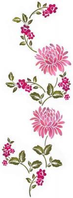 Flsp2134 pocchoir frise de fleurs montante