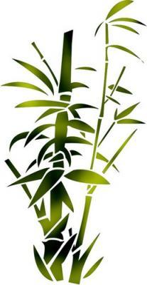 Flsp2145 pochoir bambous epais style pochoir