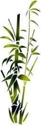 Flsp2326 pochoir bambou etroit style pochoir