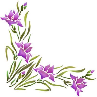 Flsp2447 pochoir angle iris style pochoir