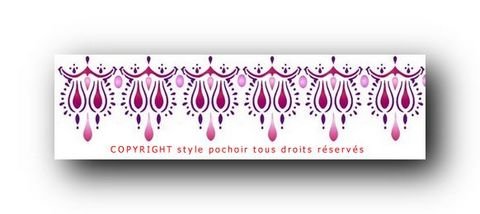 Fr044 frise orientale 2 pochoir