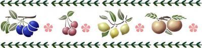Fr6945 frise de fruits en pochoir cuisine decoration murale