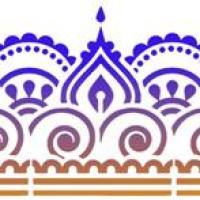 Fris77201 pochoir frise indoue orientale mon artisane