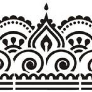 Fris77201 pochoir frise indoue orientale style pochoir