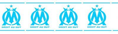 Frise logo om olympique de marseille foot pochoir