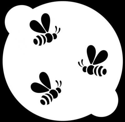 Ga54 pochoir gateau alimentaire abeilles style pochoir