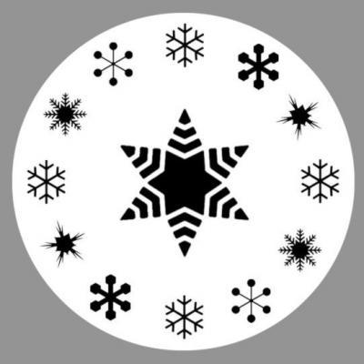 Ga56 flocons de neige pochoir rond noel gateaux patisserie