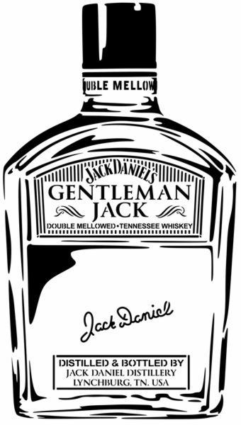 Gentleman jack bouteille jack daneils whiskey pochoir a peindre stylepochoir monartisane