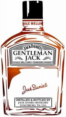 Gentleman jack bouteille jack daneils whiskey pochoir a peindre stylepochoir