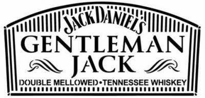 Gentleman jack etiquette de bouteille jack daniels pochoir a peindre