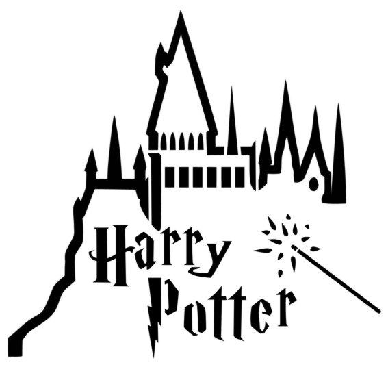 Har1 pochoir harry potter 1 chateau