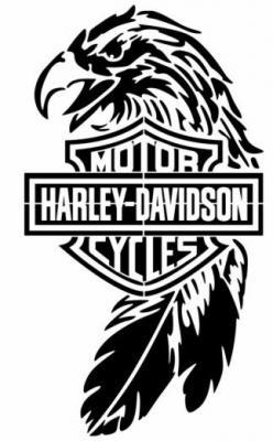Harley davidson aigle pochoir a peindre