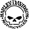 Hd 12 harley davidson skull tete de mort pochoir p