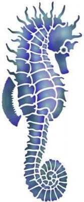 Hippocampe pochoir mon artisane mar91245