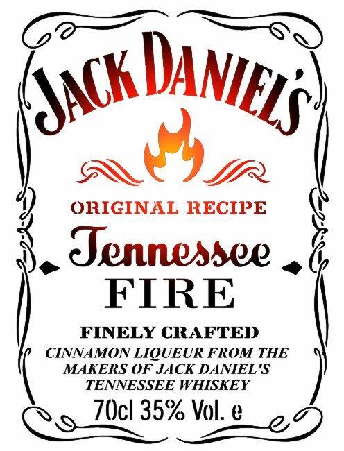 Jack daniels fire pochoir a peindre stencil style pochoir mon artisane d81254b