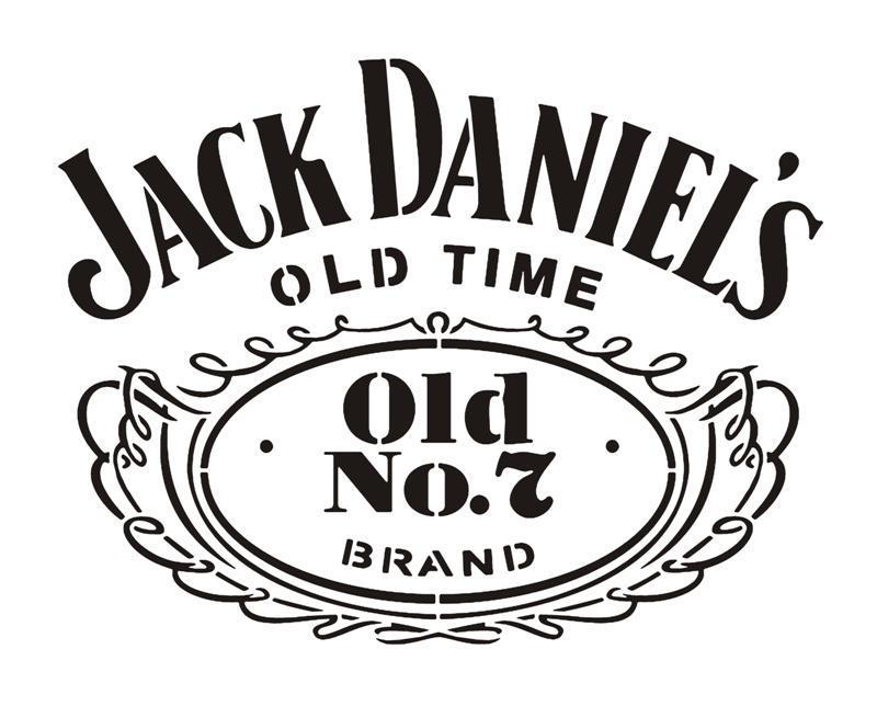 Jack daniels logo sticker