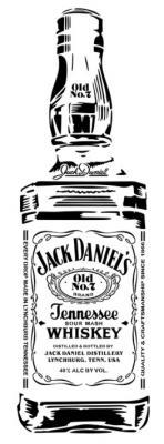 Jack daniels pochoir bouteille style pochoir jack daniels bottle stencil mon artisane pp