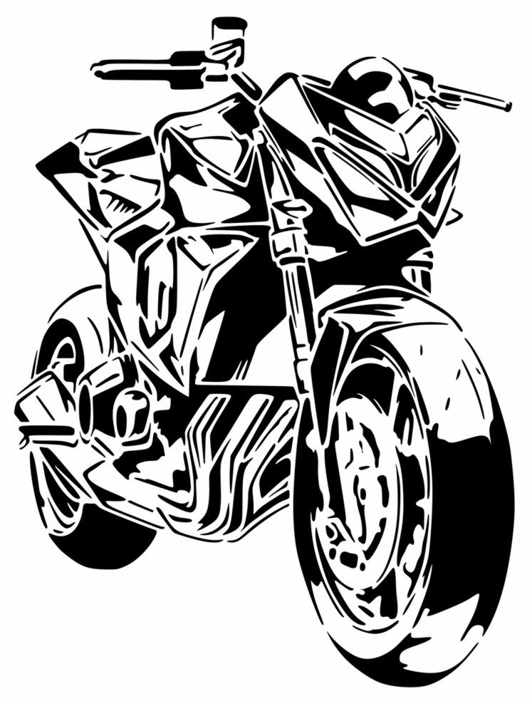 Kawasaki z800 moto pochoir a peindre