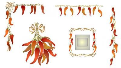 Kit de pochoirs piments promotion style pochoir 1