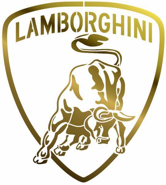 Lamb1 pochoir lamborghini logo voiture style pochoir