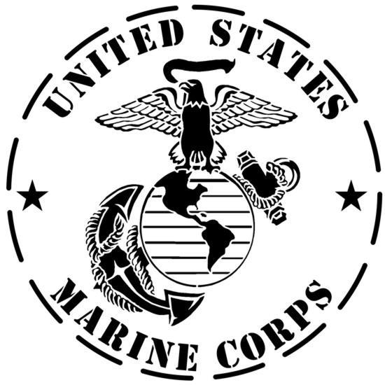 Marine corps united states stencil pochoir