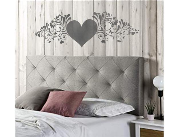 Motif coeur tete de lit pochoir small