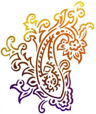 Motif hindou cachemire pochoir style pochoir mon artisane