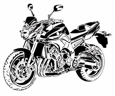 Moto yamaha fz8 pochoir a peindre style pochoir