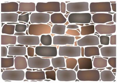 Mur de pierres pochoir a peindre