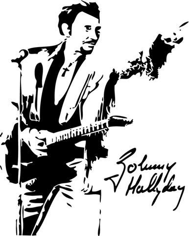 Johnny Hallyday En Concert Pochoir A Peindre