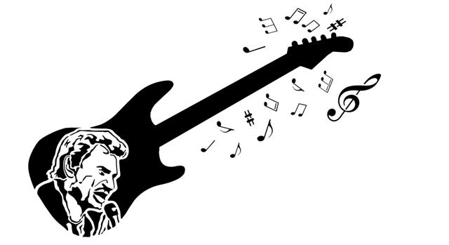 Mus2698 johnny hallyday guitare pochoir