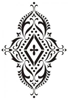 Ori3001 motif oriental hindou en pochoir a peindre