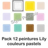 Pack 12 peintures lily pastel