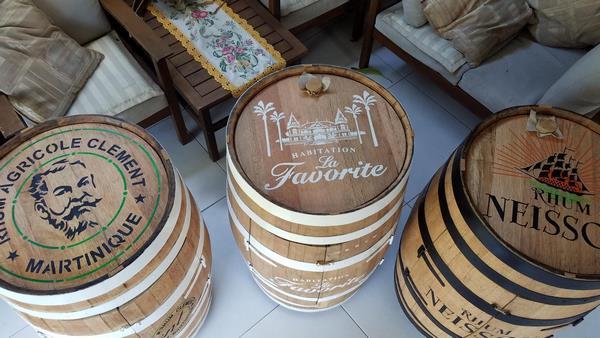 Photo pochoir rhums tonneaux bois copier