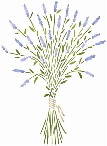 Pochoir bouquet de lavande reutilisable