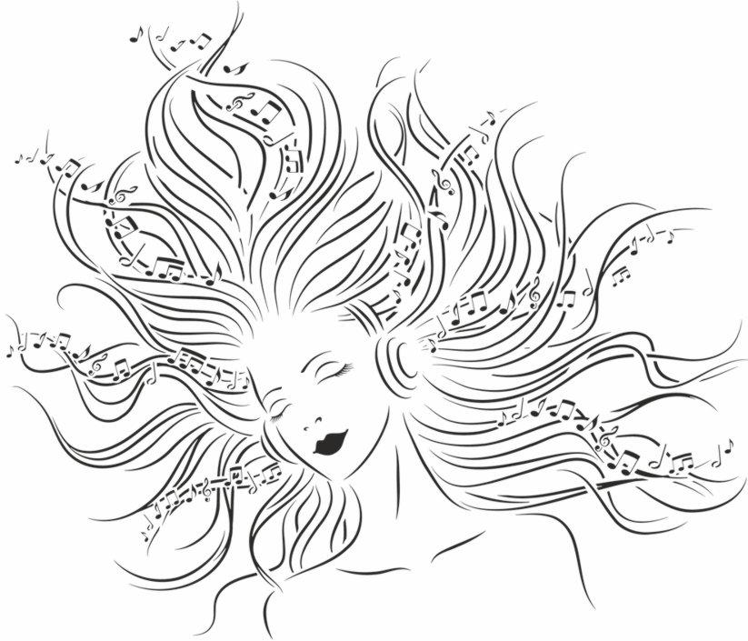 Pochoir femme musique stipo1840 pochoir mural a peindre style pochoir