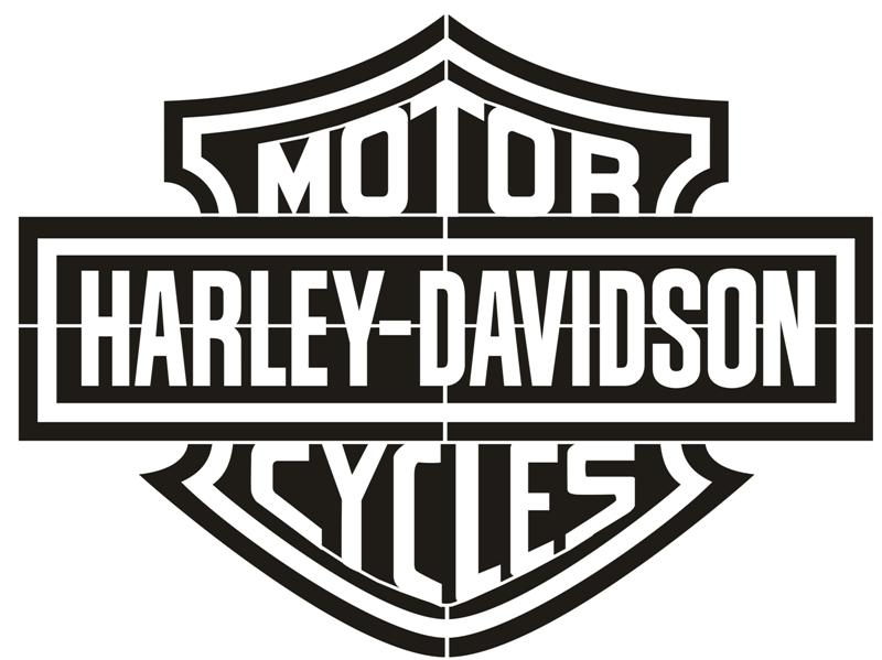 Pochoir harley davidson motor cycles