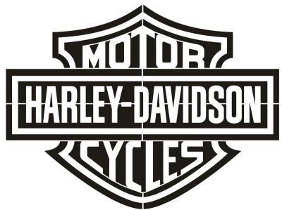 Pochoir harley davidson motor cycles
