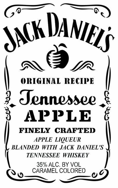 Pochoir jack daniels apple liqueur alcool decoration