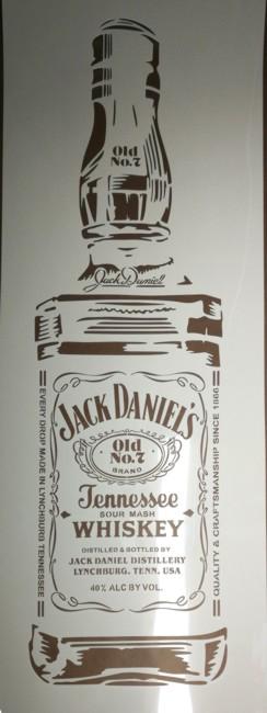 Pochoir jack daniels bouteille photo style pochoir mon artisane