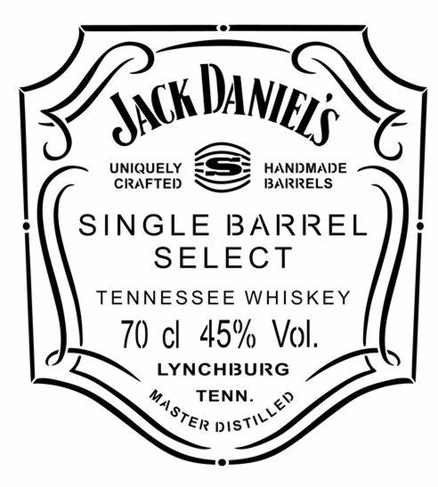 Pochoir jack daniels single barrel style pochoir mon artisane