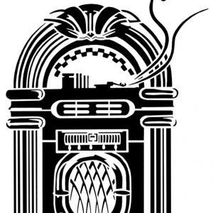 Pochoir juke box musique ref spd373