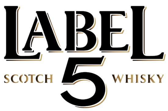 Pochoir label 5 scotch whisky style pochoir