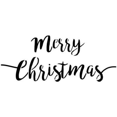 Pochoir merry christmas joyeux noel