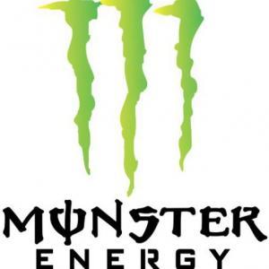 Pochoir monster energy logo marque a peindre vert noir