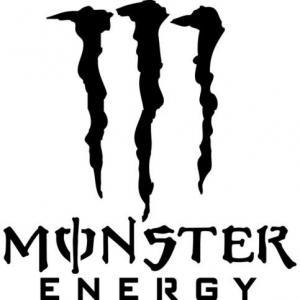 Pochoir monster energy logo marque a peindre