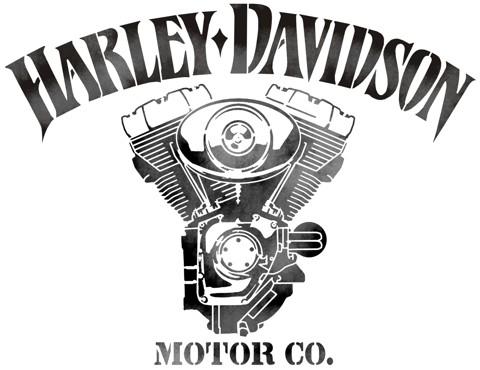 Pochoir moteur harley davidson en plastique reutilisable mon artisane bikers