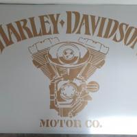 Pochoir moteur harley davidson photo style pochoir